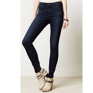AG Farrah High-Rise Dark Skinny Jeans